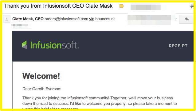 Welcome to Infusionsoft from CEO Clate Mask